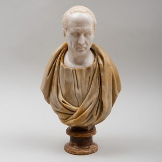 Italian Carved Marble Bust of Cicero