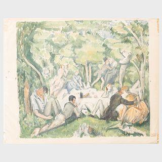 After Paul Cezanne (1839-1906): Le Dejeuner sur l'herbe