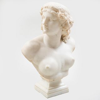 Attributed to Jean-Baptise Clésinger (1814-1883): Classical Bust