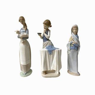 (3) Lladro Figurines