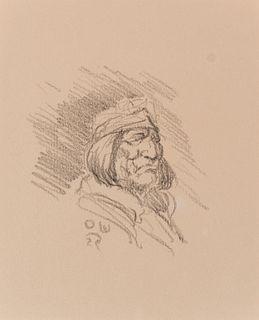Olaf Wieghorst (1899–1988): Navajo Man; Plains Indian
