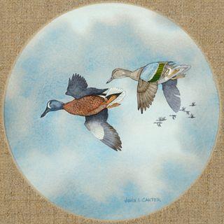 John L. Carter (b. 1937): Blue Winged Teal; Canada Geese; Mallards; Sprig; Widgeon
