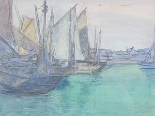 Edgar Payne (1883–1947): Fishing Boats