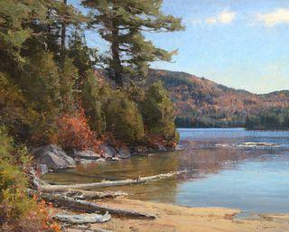 Clyde Aspevig (b. 1951): Shoreline Adirondacks (2009)