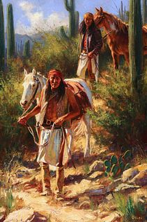 Don Oelze (b. 1965): Cutting Trail