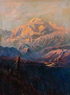 Sydney Laurence (1865–1940): Sunrise, Mt McKinley