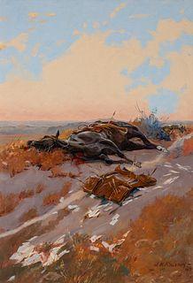 James Kenneth Ralston (1896–1987): The Pony Rider's Last Ride (1947)