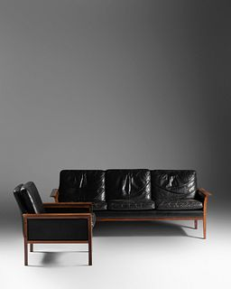 Knut Soter  (Danish, 1922-1989) Sofa and Armchair,Vatne Mobler, Norway