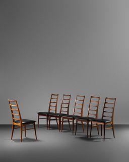 Niels Koefoed (Danish, 20th Century) Set of Six Lis Dining Chairs,Koefoed-Hornslet, Denmark