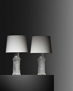 Timo Sarpaneva (Finnish, 1926-2006) Pair of Table Lamps, c. 1970,iittala for Luxus, Finland/Sweden