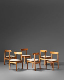 Danish Cabinet Maker  Mid 20th Century Set of Six Dining Chairs