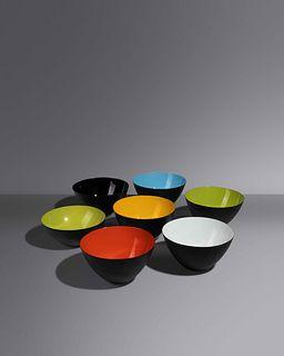 Herbert Krenchel (Danish, 1922-2014) Set of Seven Krenit Bowls,Torben Orskov & Co. A/S, Denmark