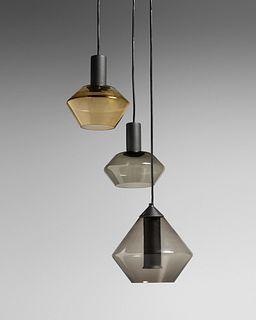 Tapio Wirkkala (Finnish, 1915-1985) Three-Light Pendant Lamp,Idman Oy, Finland