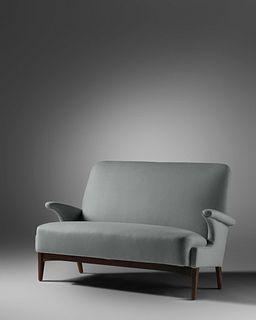 Fritz Hansen Denmark, Mid 20th Century Sofa, Model 5020