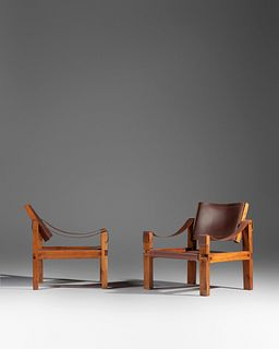 Pierre Chapo (French, 1927-1987) Pair of Lounge Chairs, model S10,Meubles Chapo, France