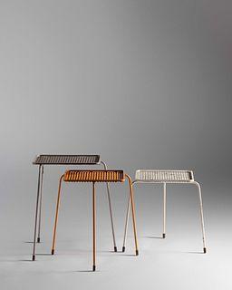 Mathieu Mategot (French, 1910-2001) Set of Soumba Nesting Tables,Atelier Mategot, France