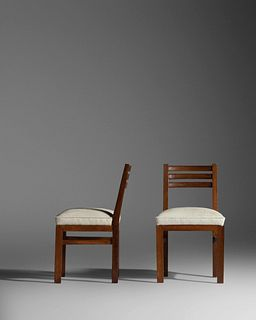 Andre Arbus (French, 1903-1969) Pair of Side Chairs, designed c. 1948