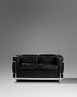 Charlotte Perriand, Pierre Jeanneret and Le Corbusier (French, 1903-1999 | Swiss, 1896-1967 | French/Swiss, 1887-1965) LC2 Settee,Cassina, France/Ita