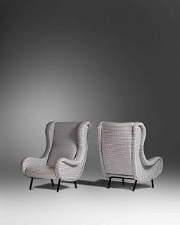 Marco Zanuso (Italian, 1916-2001) Pair of Senior Lounge Chairs, c. 1951,Arflex, Italy