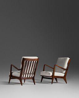 Gio Ponti (Italian, 1891-1979) Pair of Lounge Chairs, model 516,Cassina, Italy