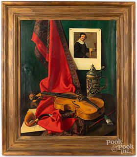 Frederick Thompson oil on canvas still life