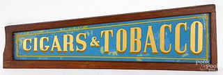 Reverse painted Cigars & Tobacco sign