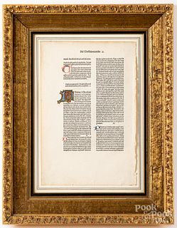 Italian illuminated manuscript page from a Bible