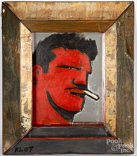Robert Loughlin acrylic on mirror