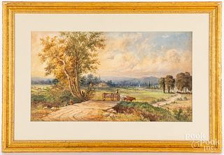 Julius Augustus Beck watercolor landscape