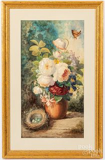 Julius Augustus Beckwatercolor floral still life