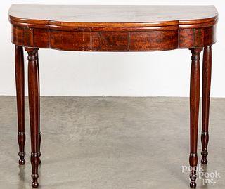Mid Atlantic Sheraton mahogany card table