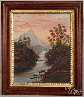 Oil on canvas Hudson River scene, 19th c.