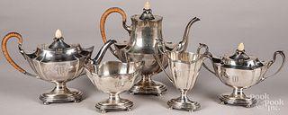 Gorham sterling silver five-piece tea service