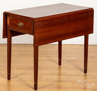 Federal inlaid cherry Pembroke table, ca. 1805