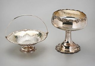 Two Silver Plate Service Pieces