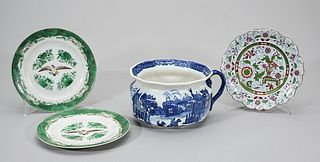 Group of Four Chinese and European Porcelains
