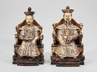 Two Chinese Seated Figures