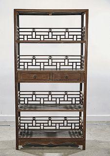 Chinese Wood Shelves