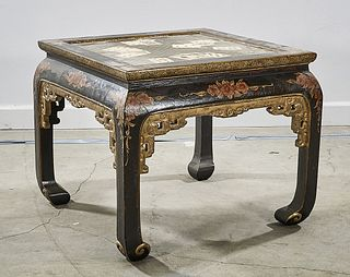 Chinese Painted Wood Table
