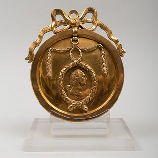 Louis XVI Gilt-Bronze Medal for the American Market 'Washington Before Boston', After Benjamin Duvivier