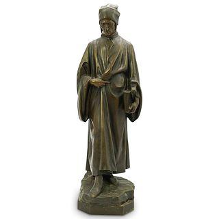 "A. Faguelle ""Dante"" Bronze Staue"