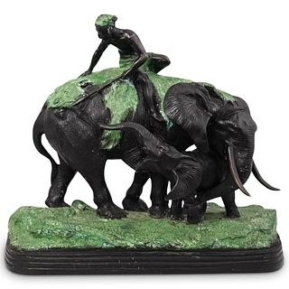 Bronze Figural Elephant Statue