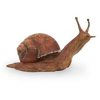 Franz Bergman Cold Painted Bronze Snail