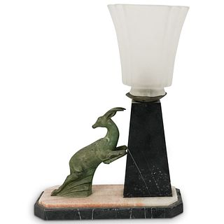 Art Deco Leaping Ibex Table Lamp