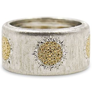 Buccellati 18k gold and Sterling Ring