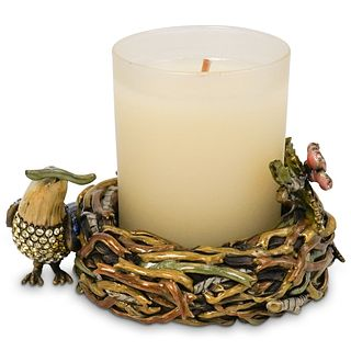 Jay Strongwater English Garden Candle Holder