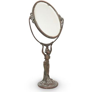 Art Deco Bronze Vanity Mirror