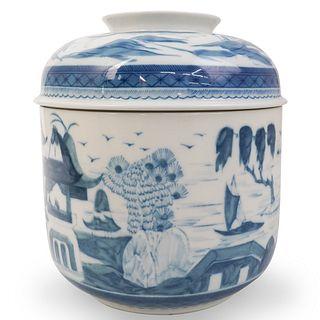 Mottahedeh Porcelain Lidded Jar