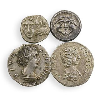 (4Pc) Ancient Roman & Greek Coins