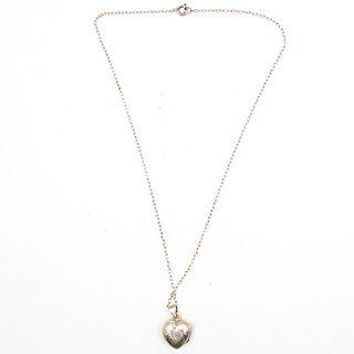 Sterling Heart Locket Necklace